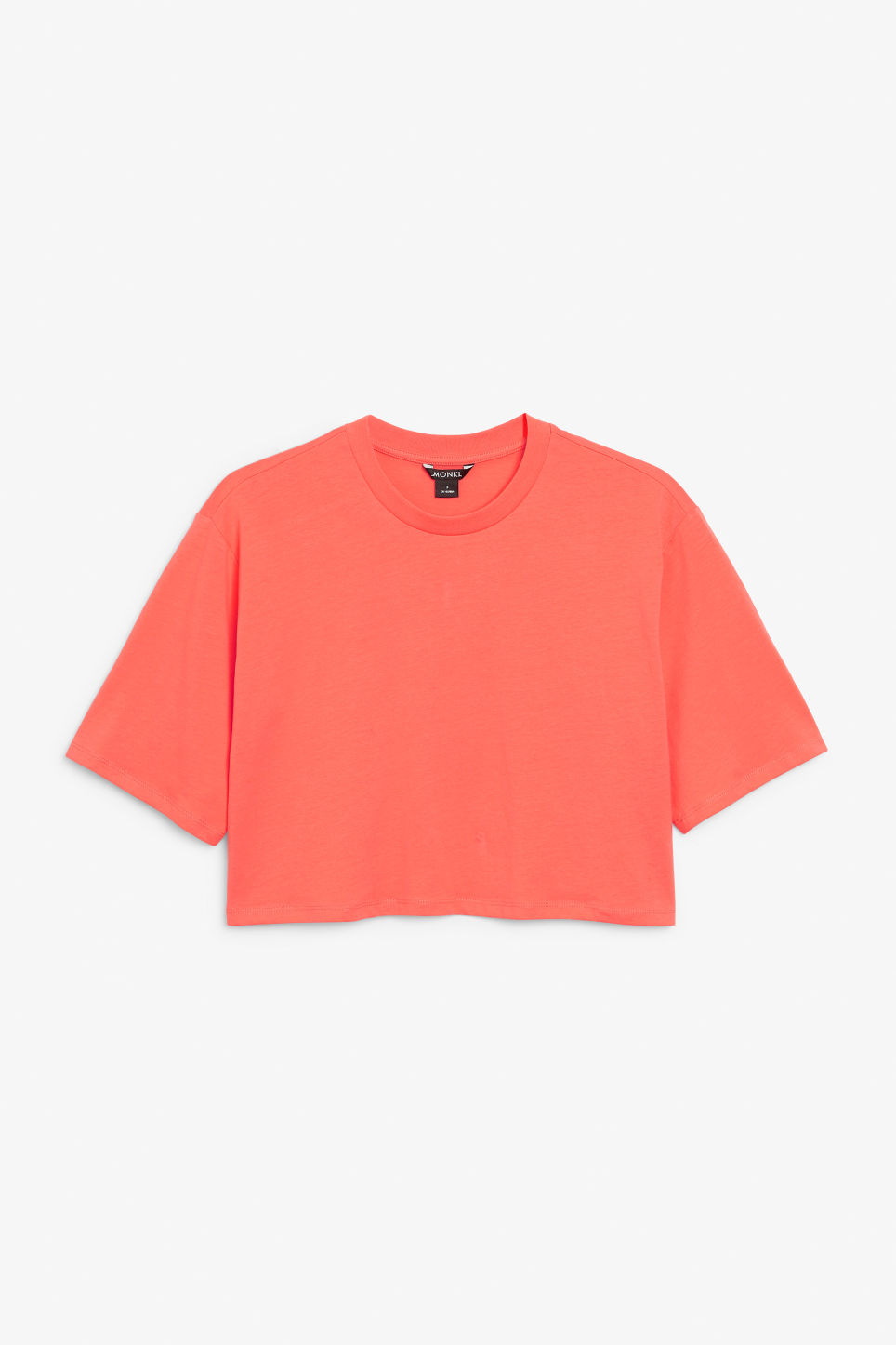 Front image of Monki cropped tee in orange