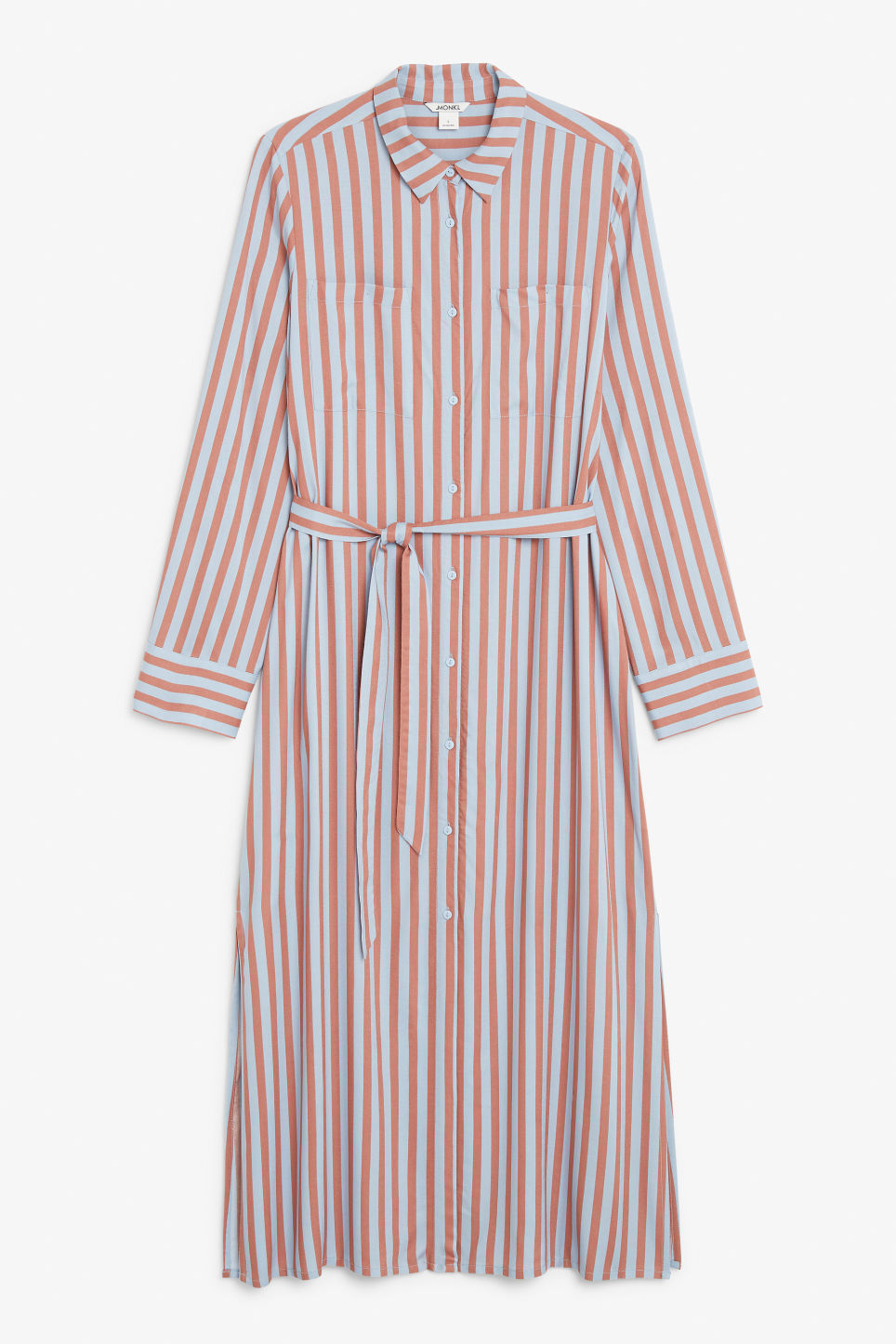 Front image of Monki long shirt dress in orange