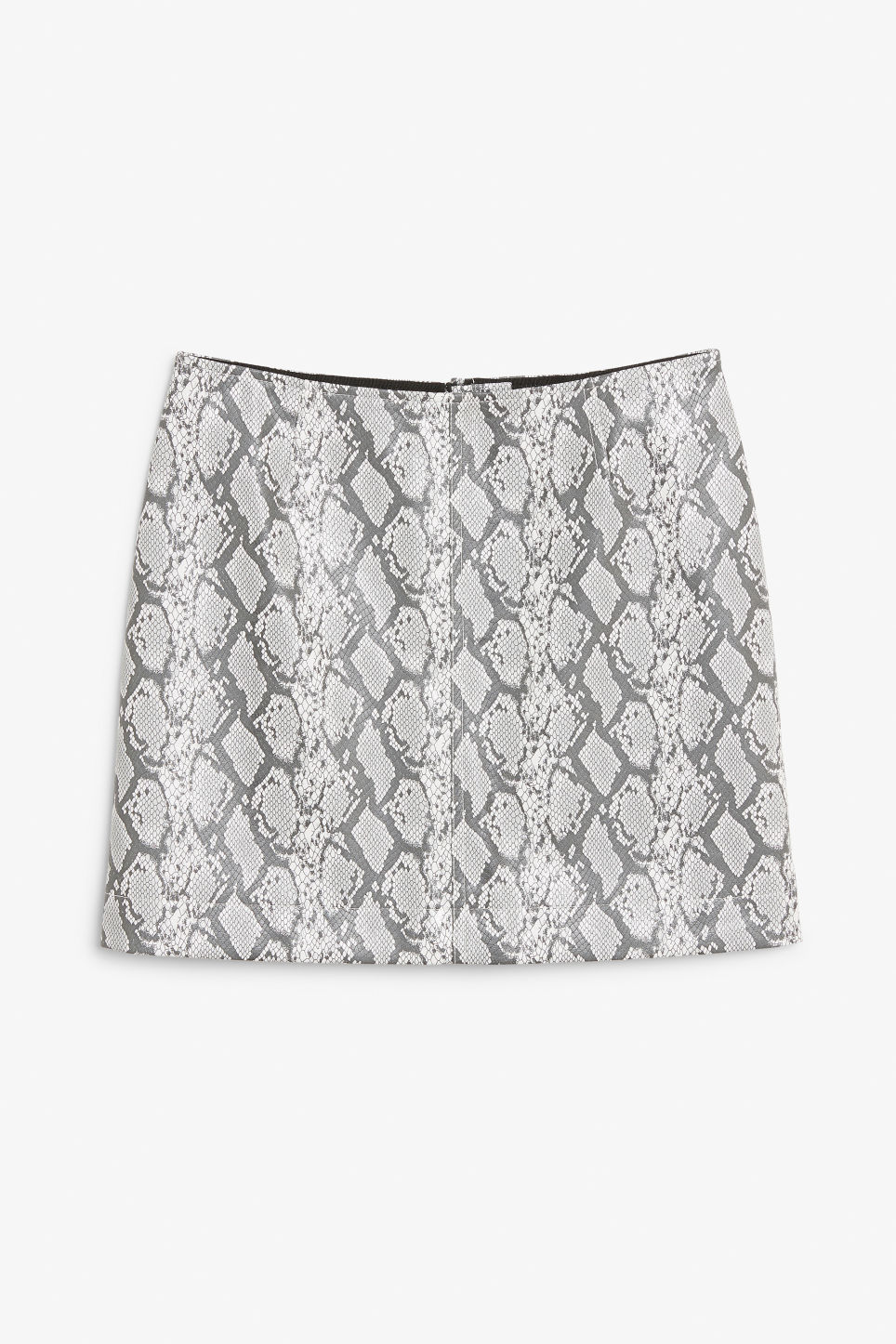Front image of Monki mini skirt in white