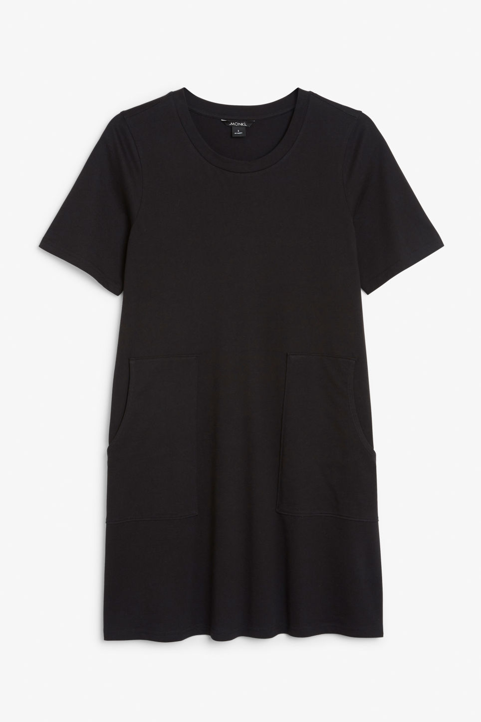 Front image of Monki oversized shirt dress in black