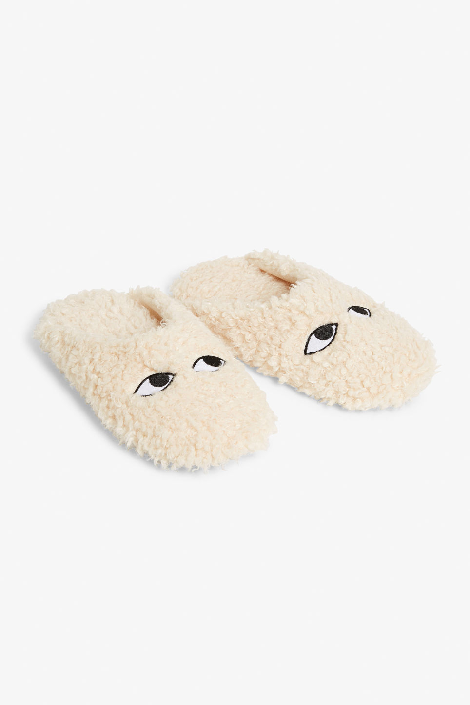 Front image of Monki monki slippers in white