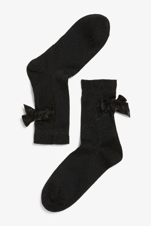 Bow detail socks