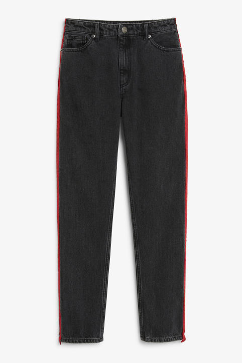 Kimomo red stripe jeans