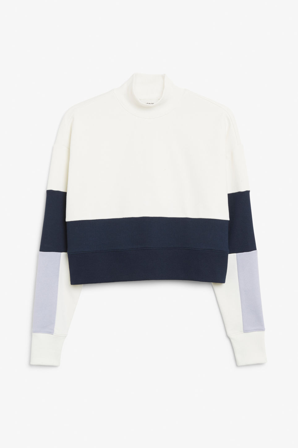 Front image of Monki high-neck sweater in purple