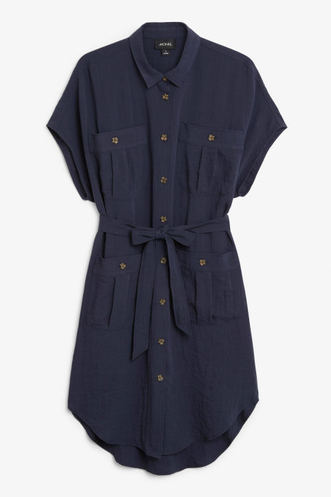 Buttoned pocket dress
