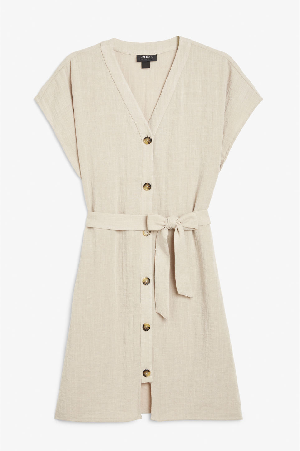 Front image of Monki oversized safari dress in beige