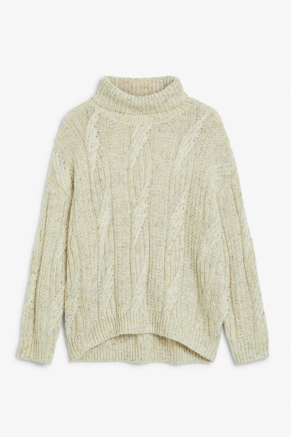 Front image of Monki sweater turtleneck  in white