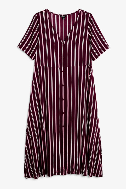 Button up V-neck dress