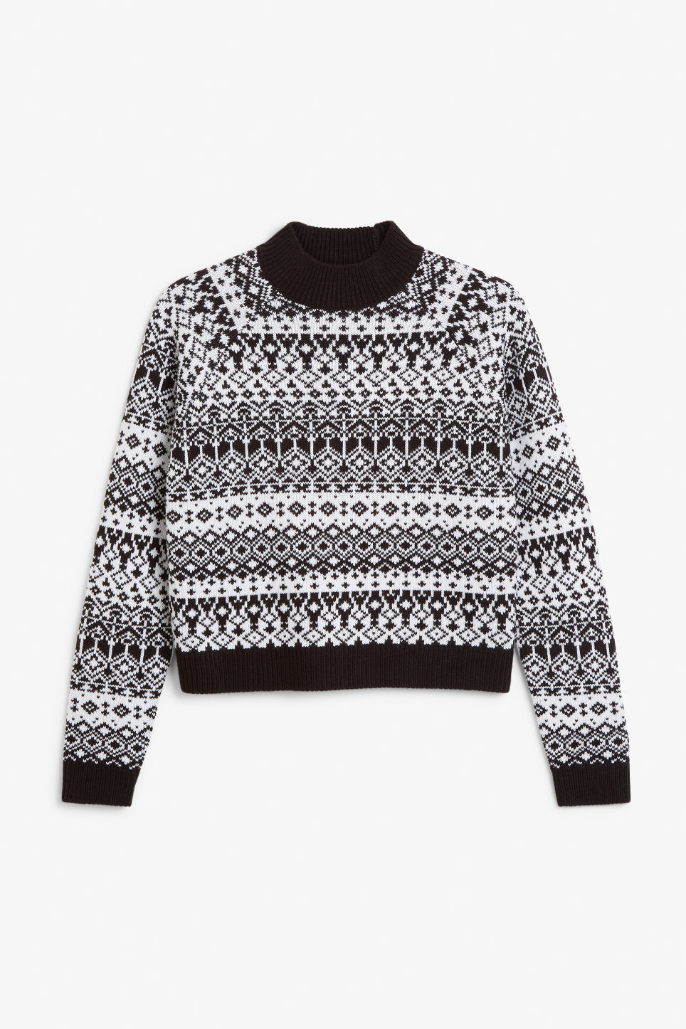 Front image of Monki knitted sweater in white