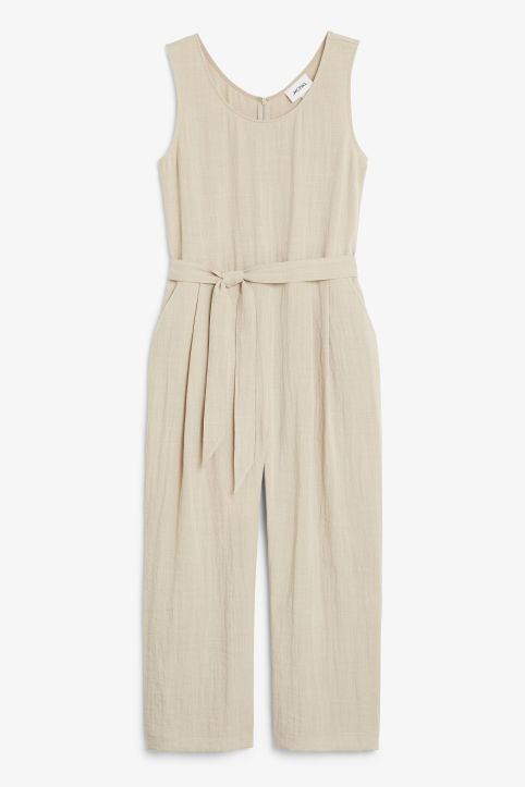 Flowy belted jumpsuit
