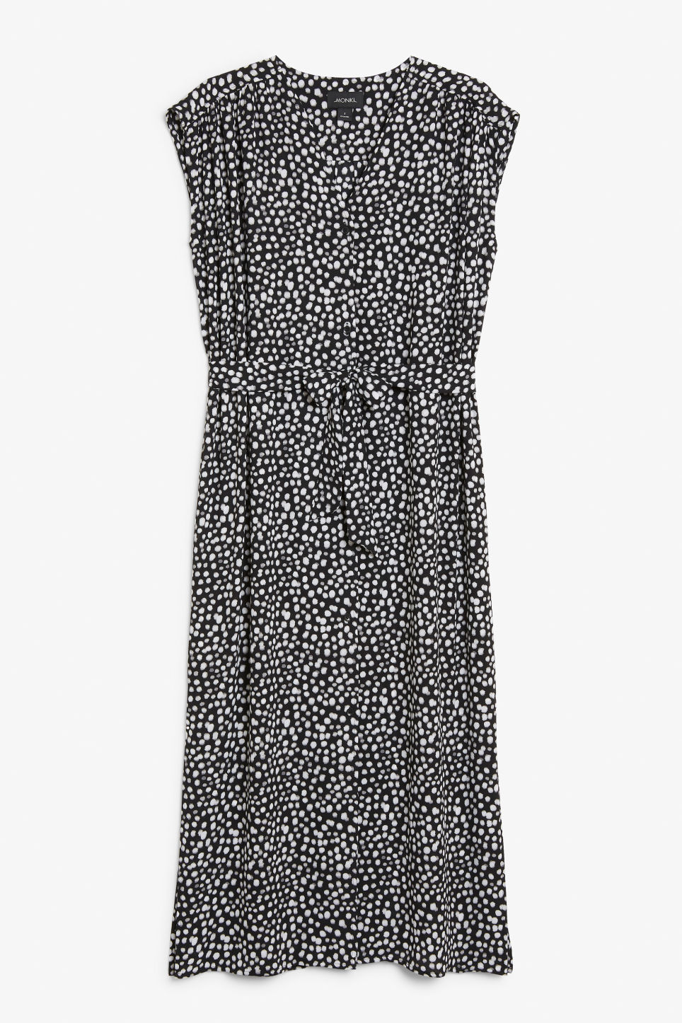 Front image of Monki v-neck maxi dress in black