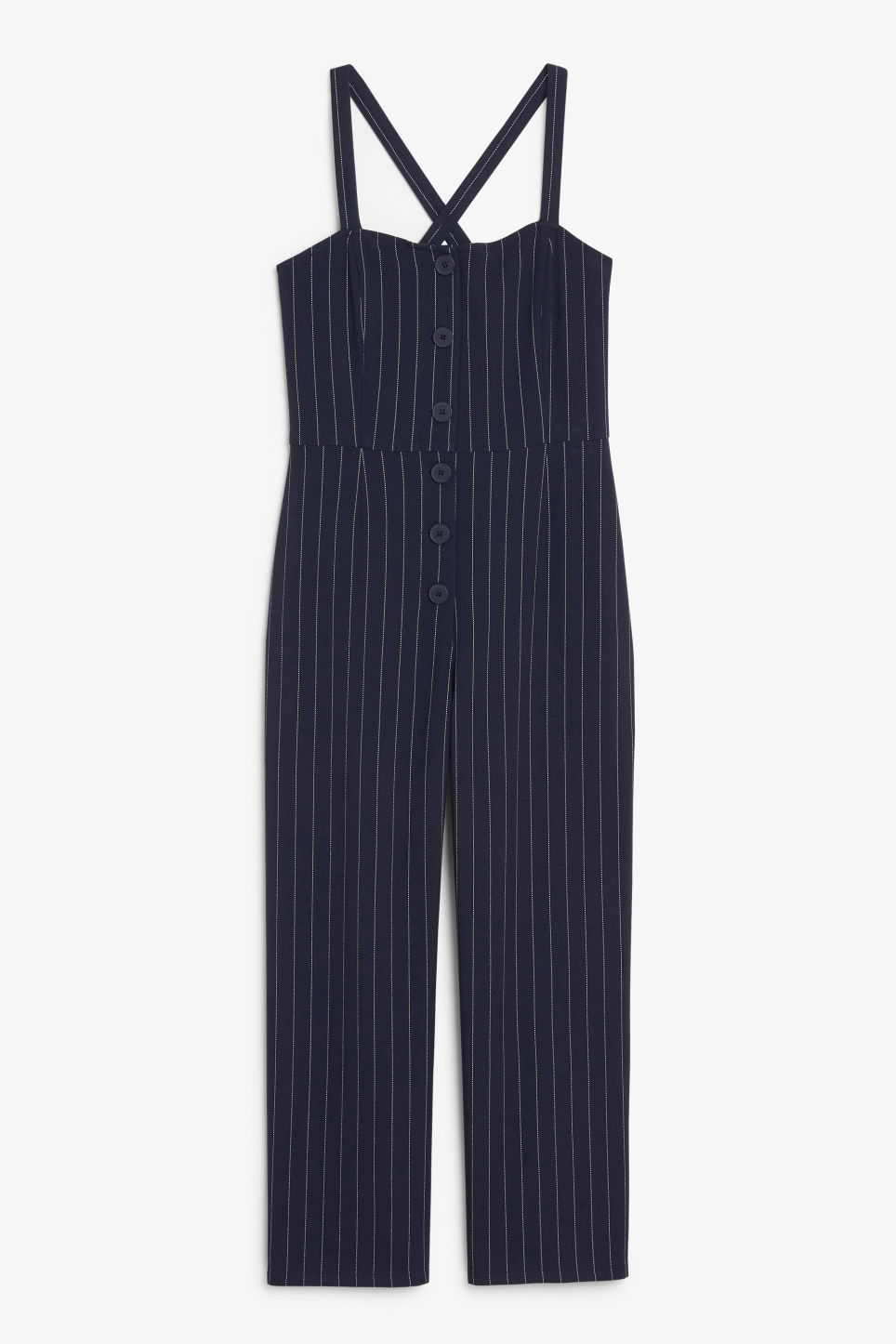 Front image of Monki casual jumpsuit in blue
