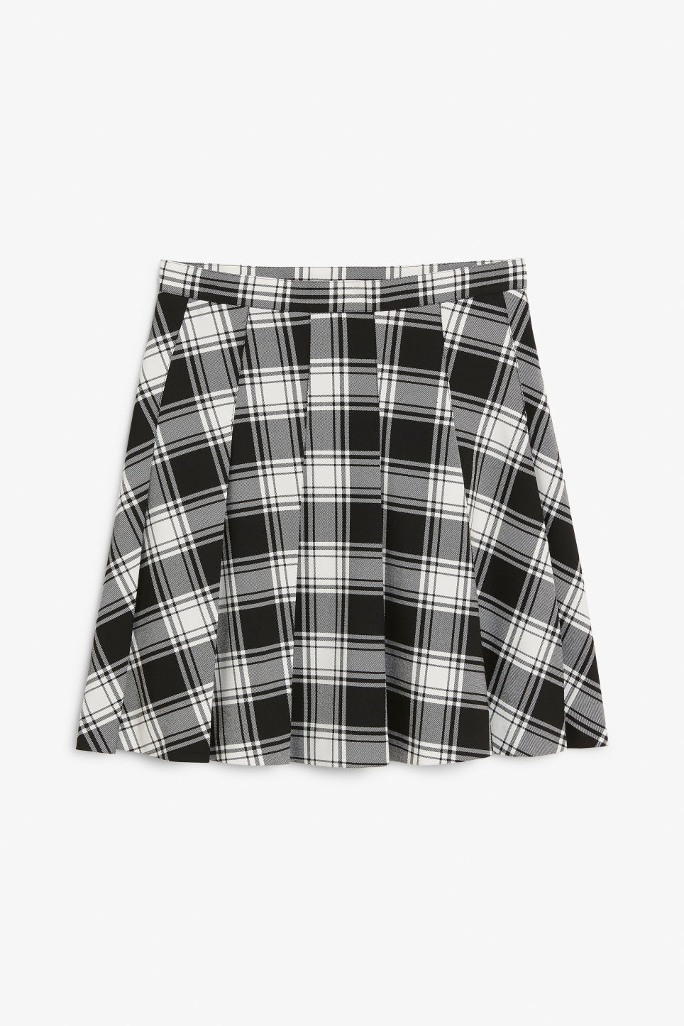 Front image of Monki tennis skirt in black