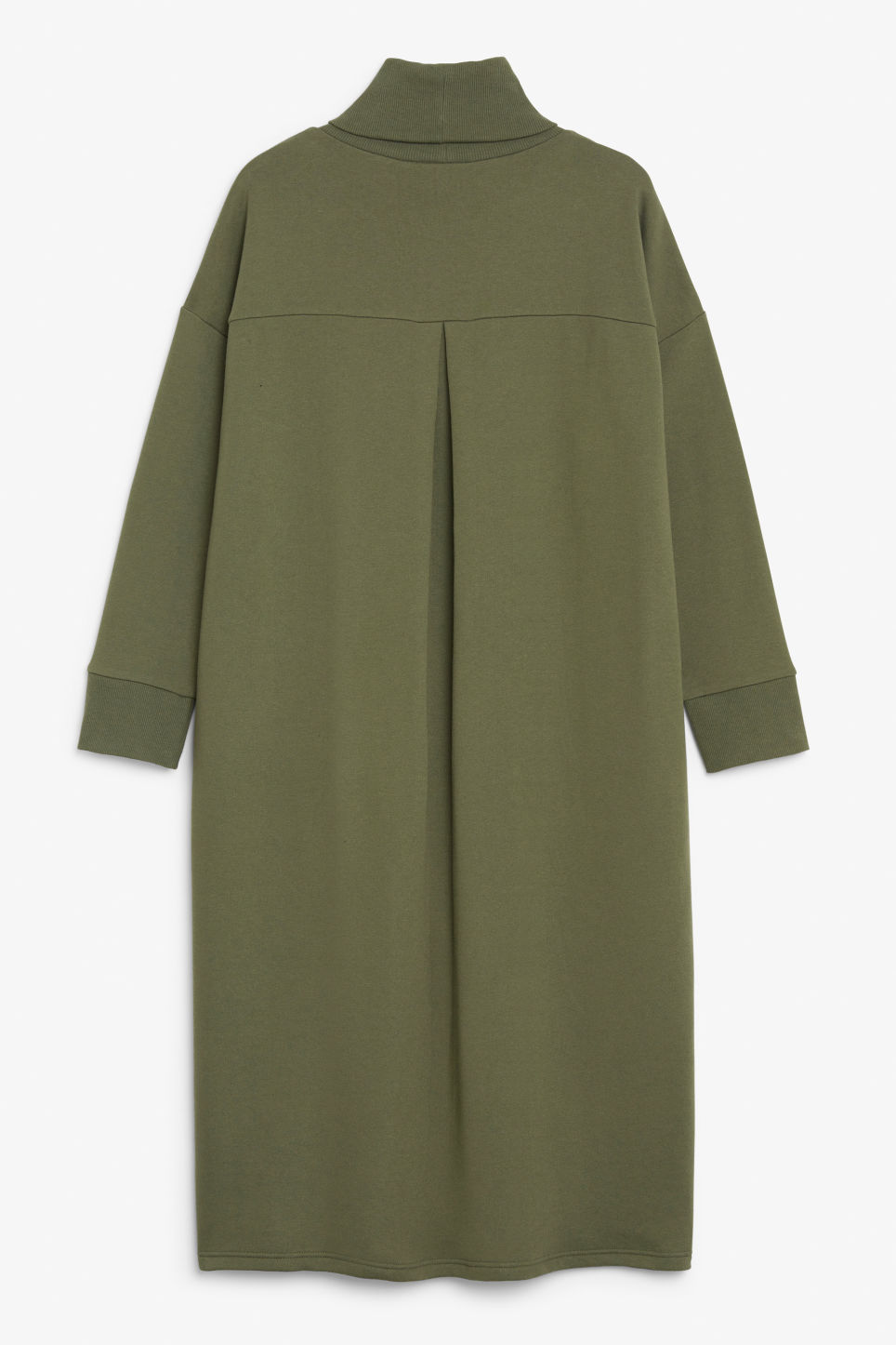Back image of Monki turtleneck dress in green