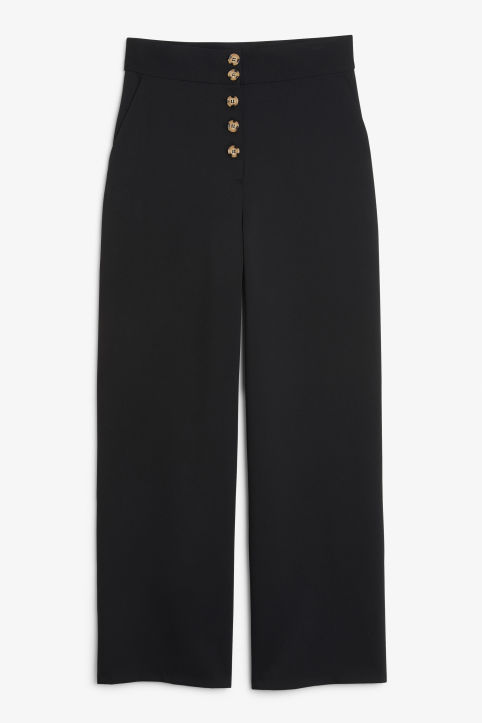 Wide high-waist trousers