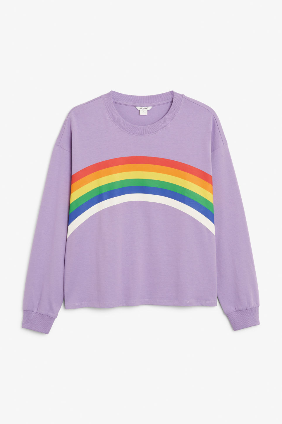 Front image of Monki long-sleeved top in purple