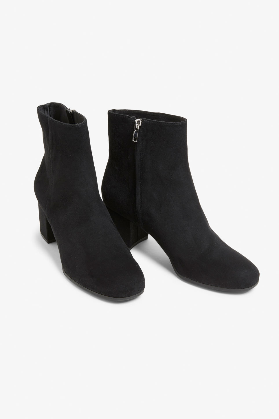 Front image of Monki classic ankle boots in black
