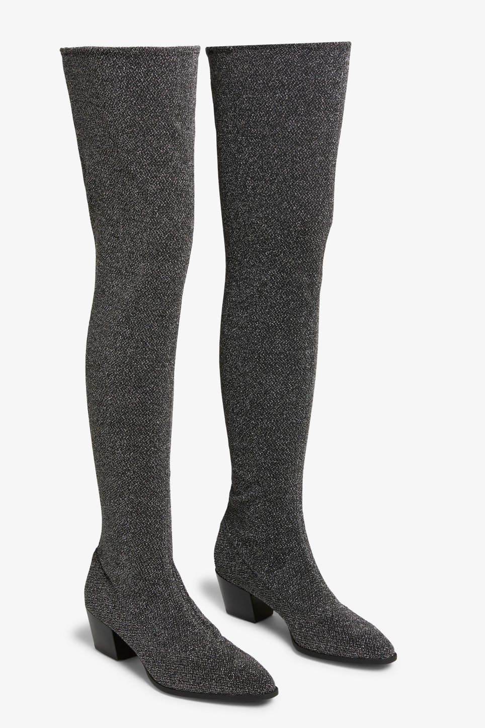 Back image of Monki over the knee boots in black