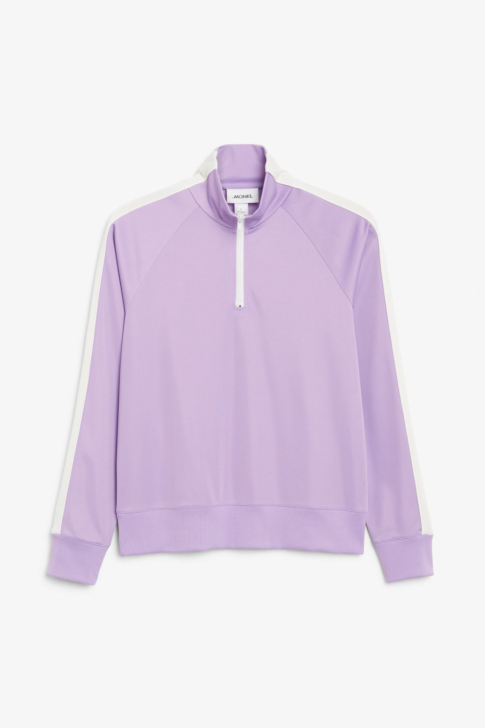 Front image of Monki half zip tracksuit jacket  in purple
