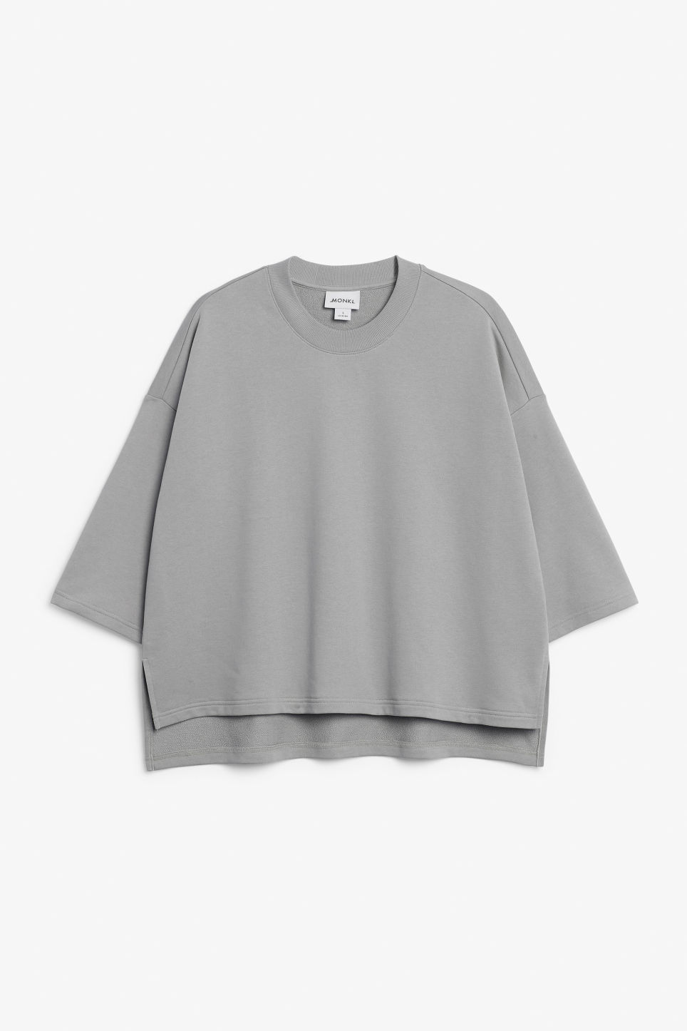 Front image of Monki raglan sweater in grey
