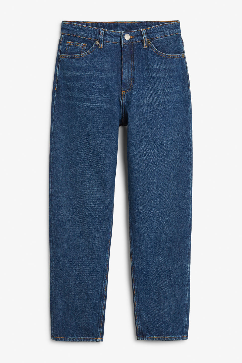Front image of Monki taiki blue jeans in blue