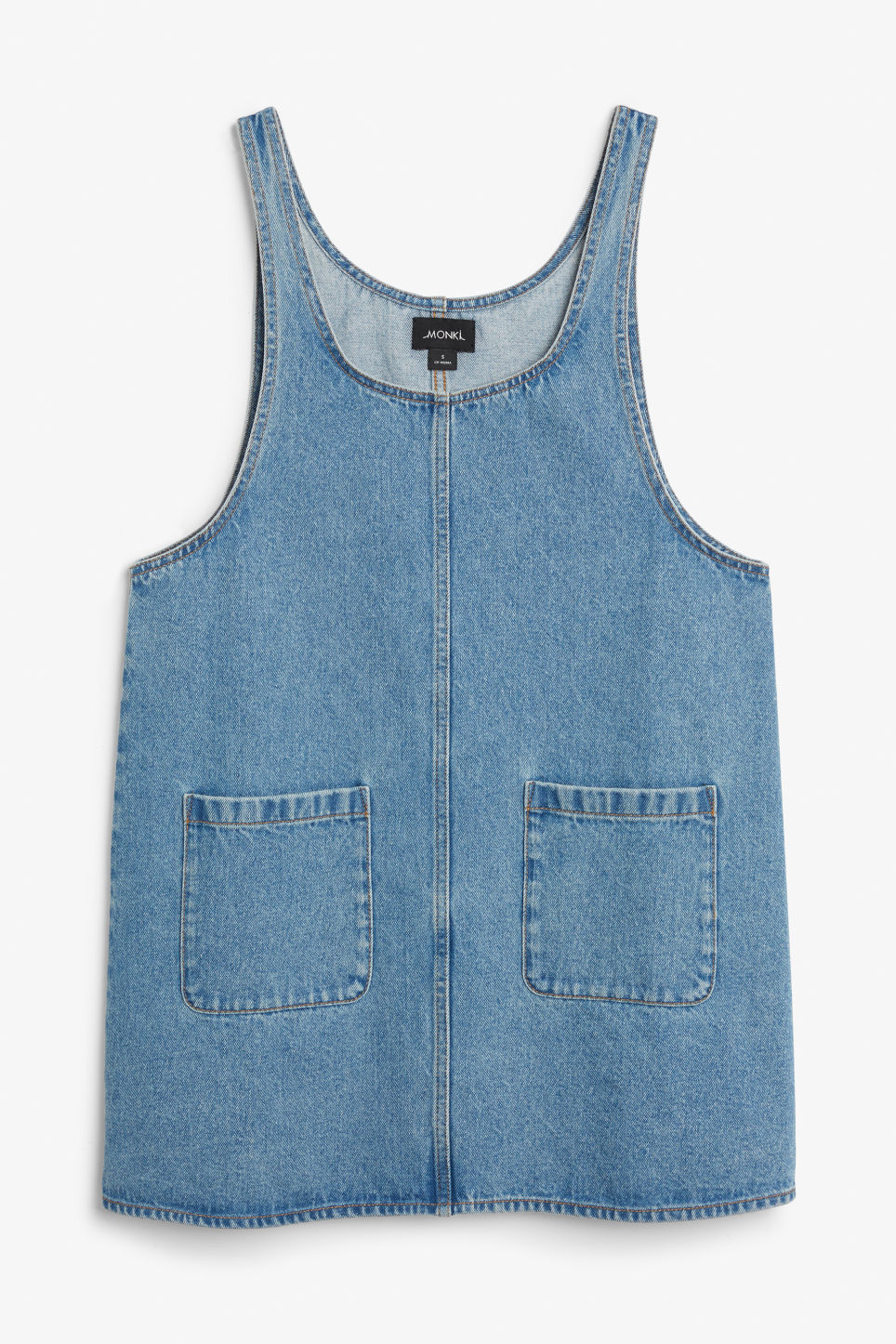 Front image of Monki denim dress  in blue