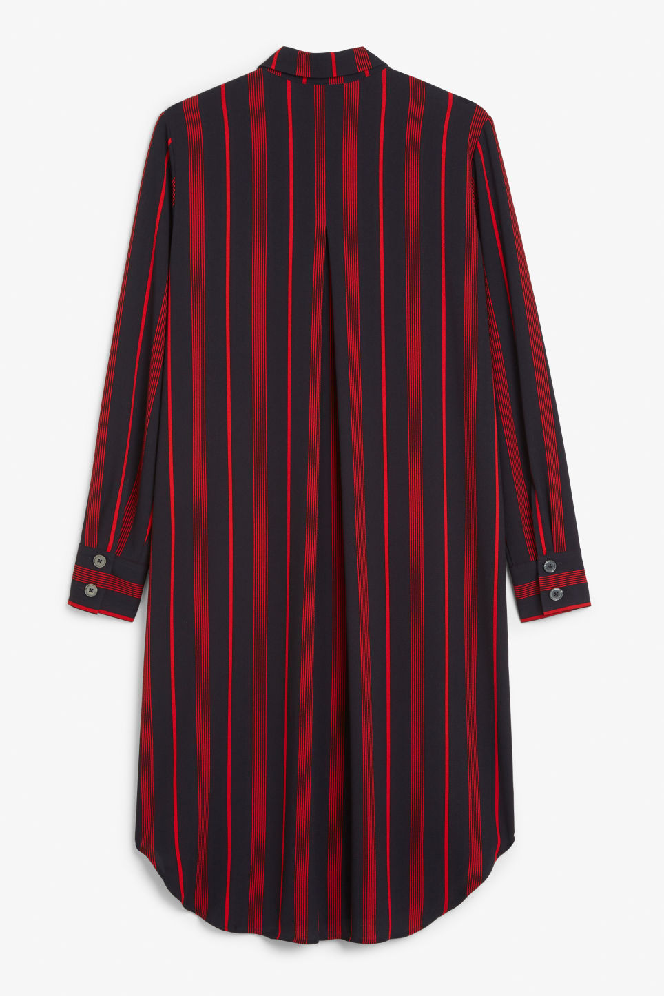 Back image of Monki long-sleeved shirt dress in blue