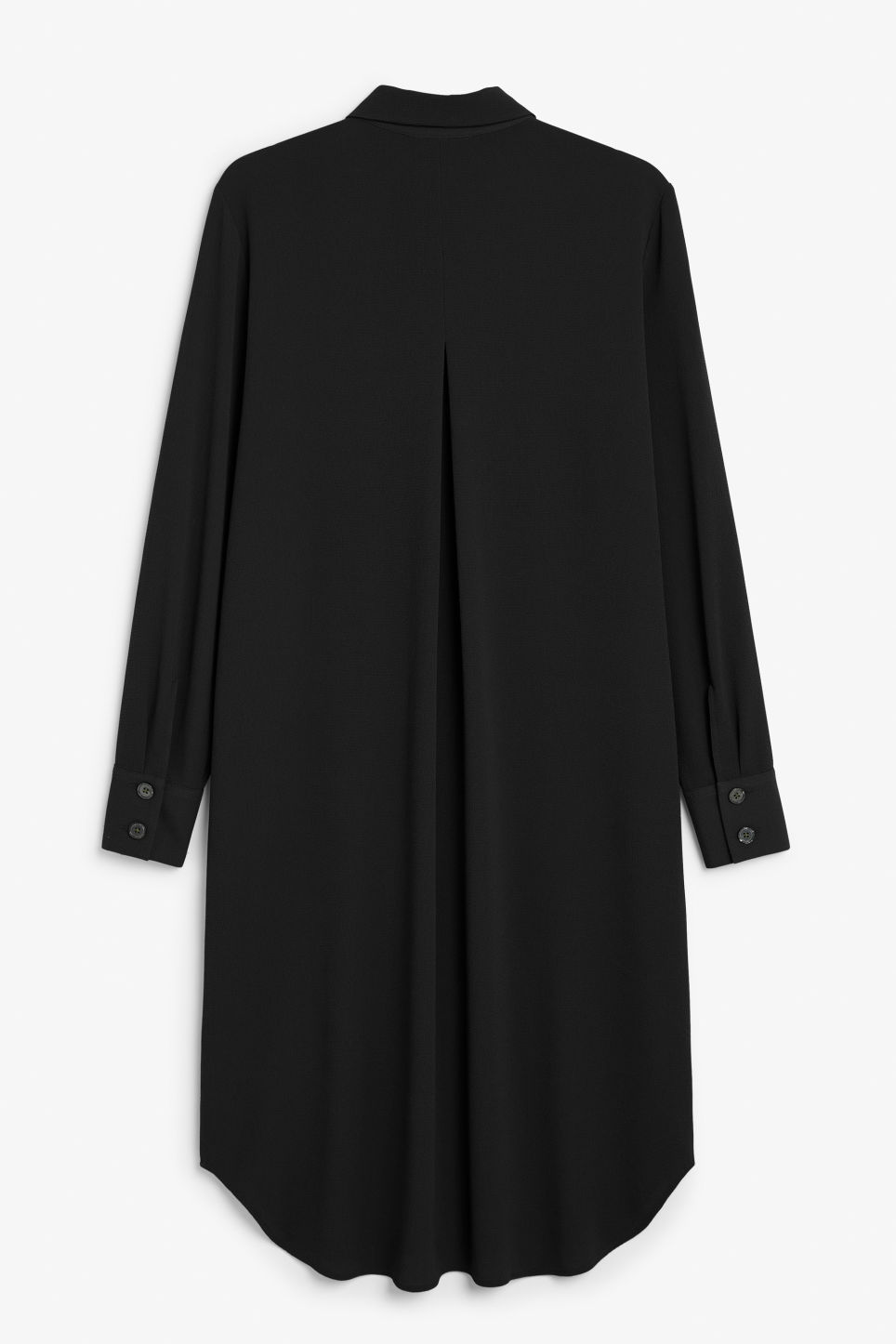 Back image of Monki flowy shirt dress in black