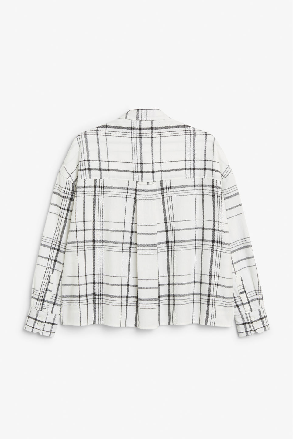 Back image of Monki flannel shirt in white