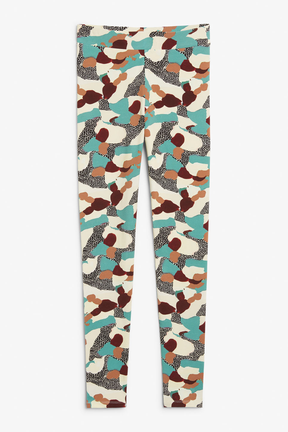 Front image of Monki comfy leggings in turquoise