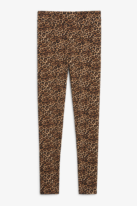 Front image of Monki comfy leggings in beige