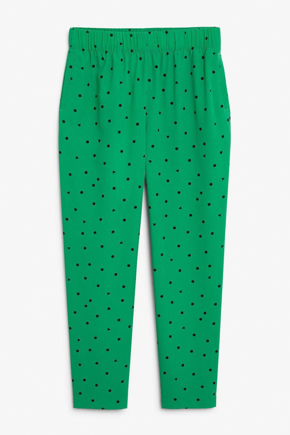 Front image of Monki flowy trousers  in green