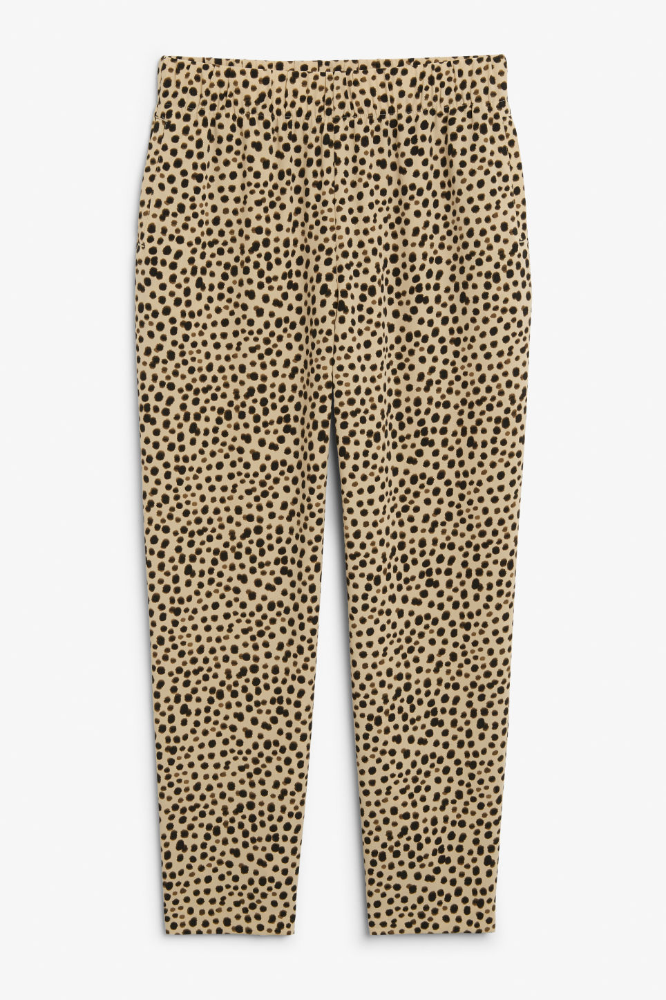 Front image of Monki flowy trousers  in beige