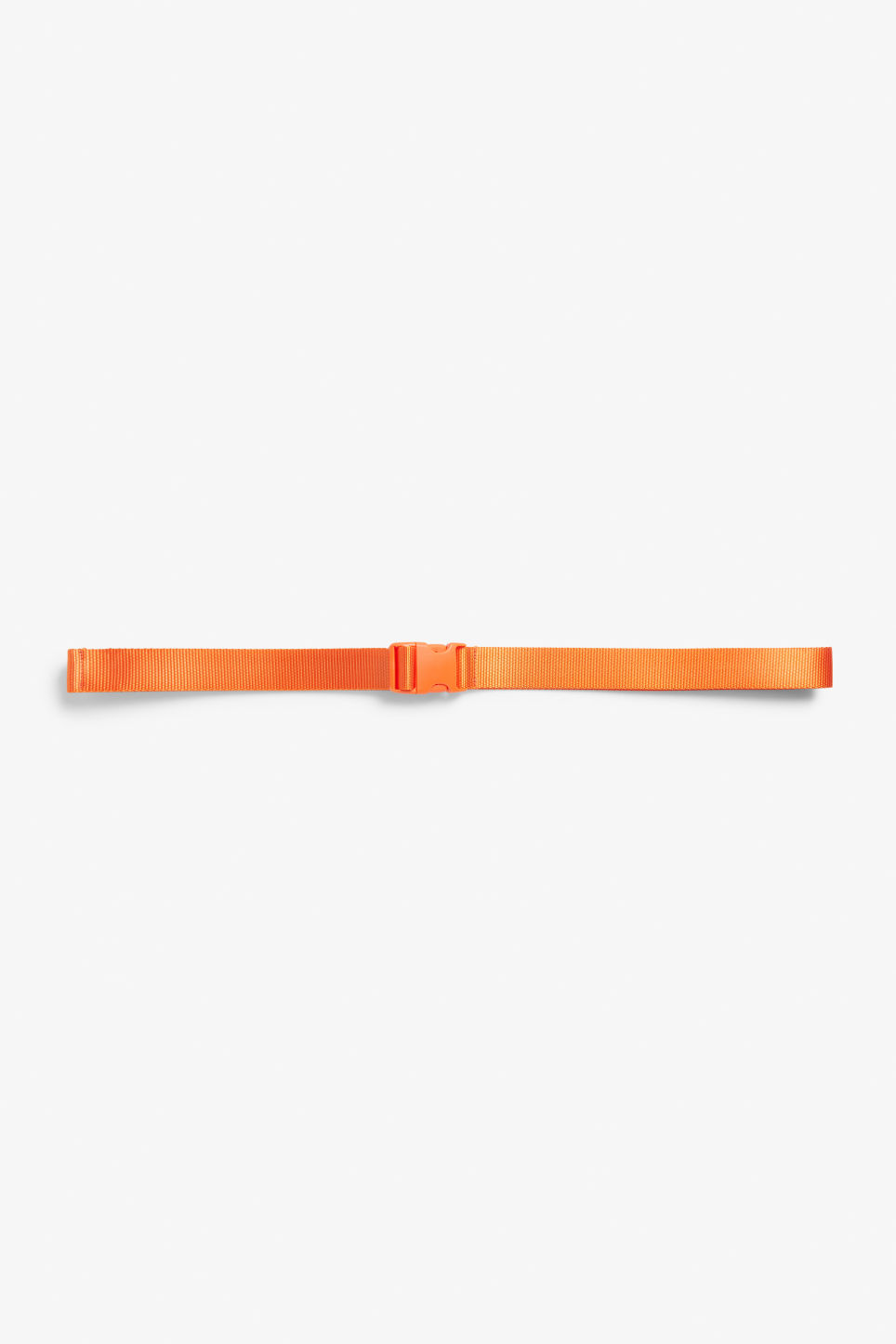 Front image of Monki industrial side squeeze buckle belt in orange