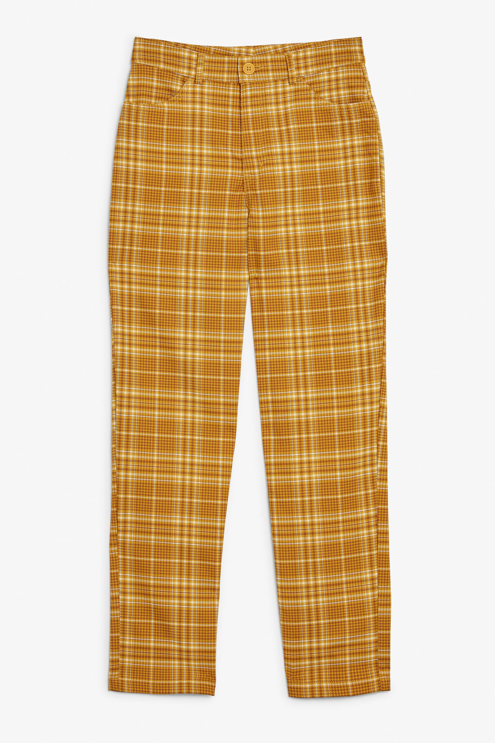 Front image of Monki dressy trousers in yellow