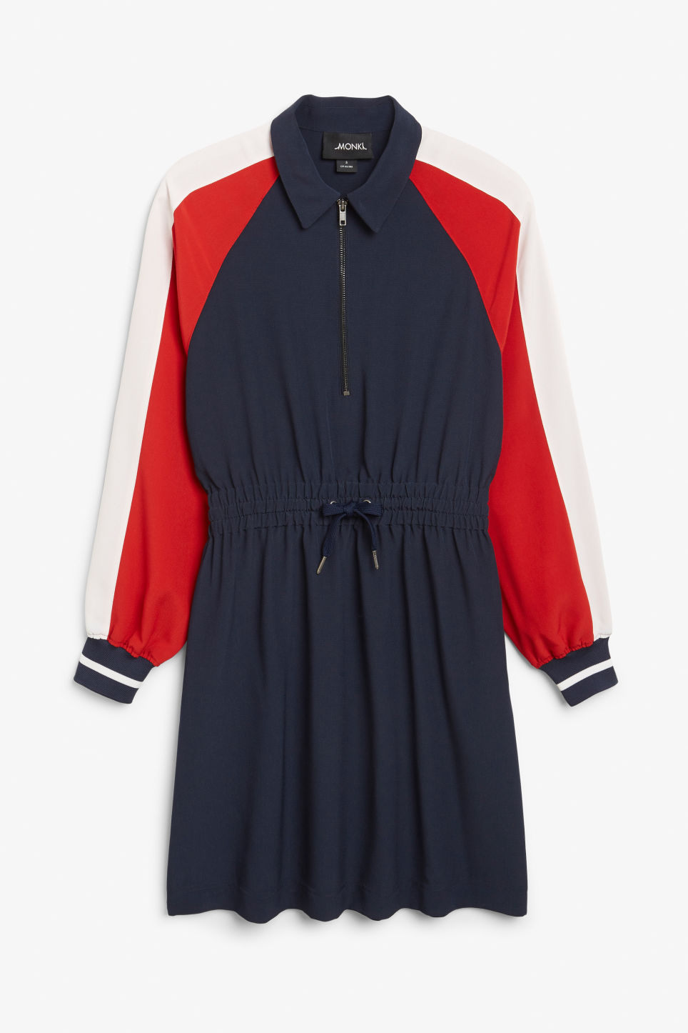 Front image of Monki retro sport dress in blue