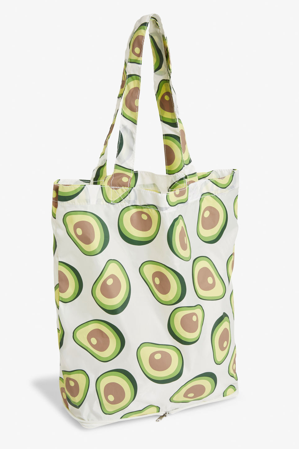 Front image of Monki foldable tote bag in green