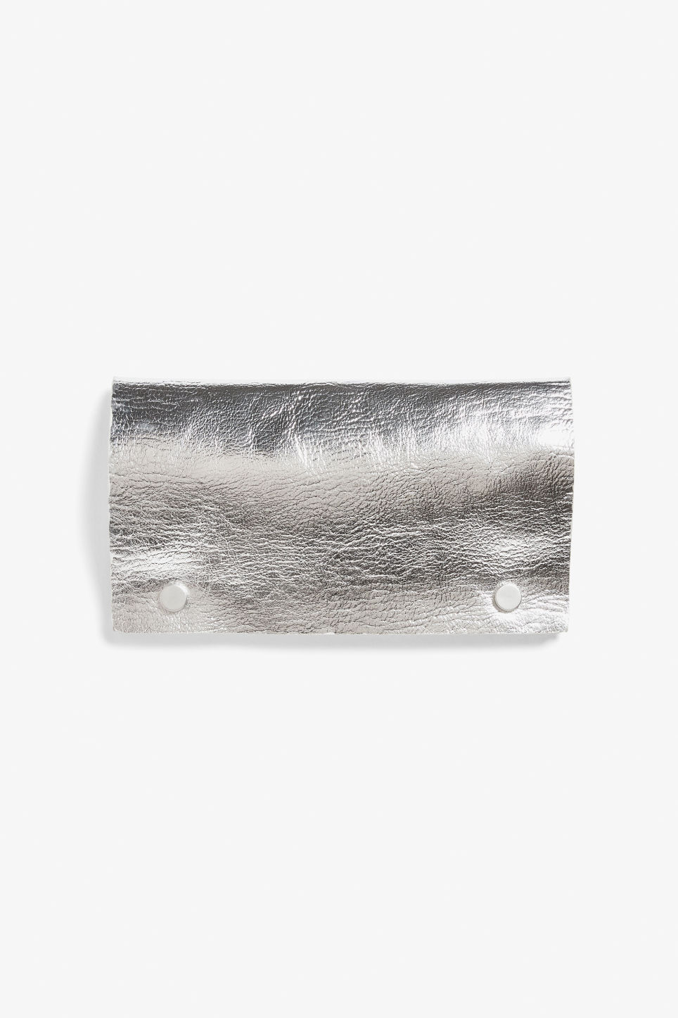Front image of Monki wallet with belt loop in silver