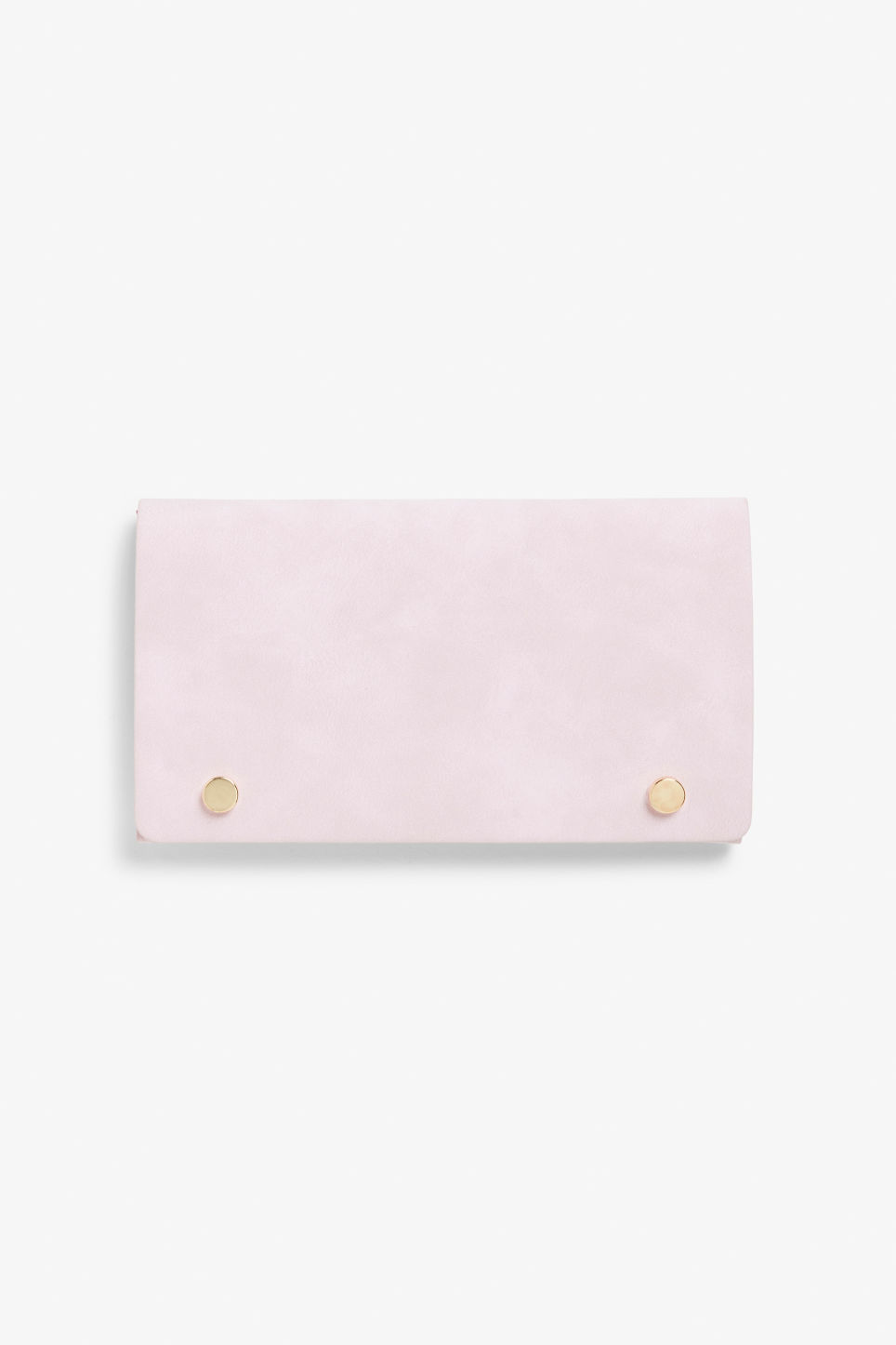 Front image of Monki wallet with belt loop in pink