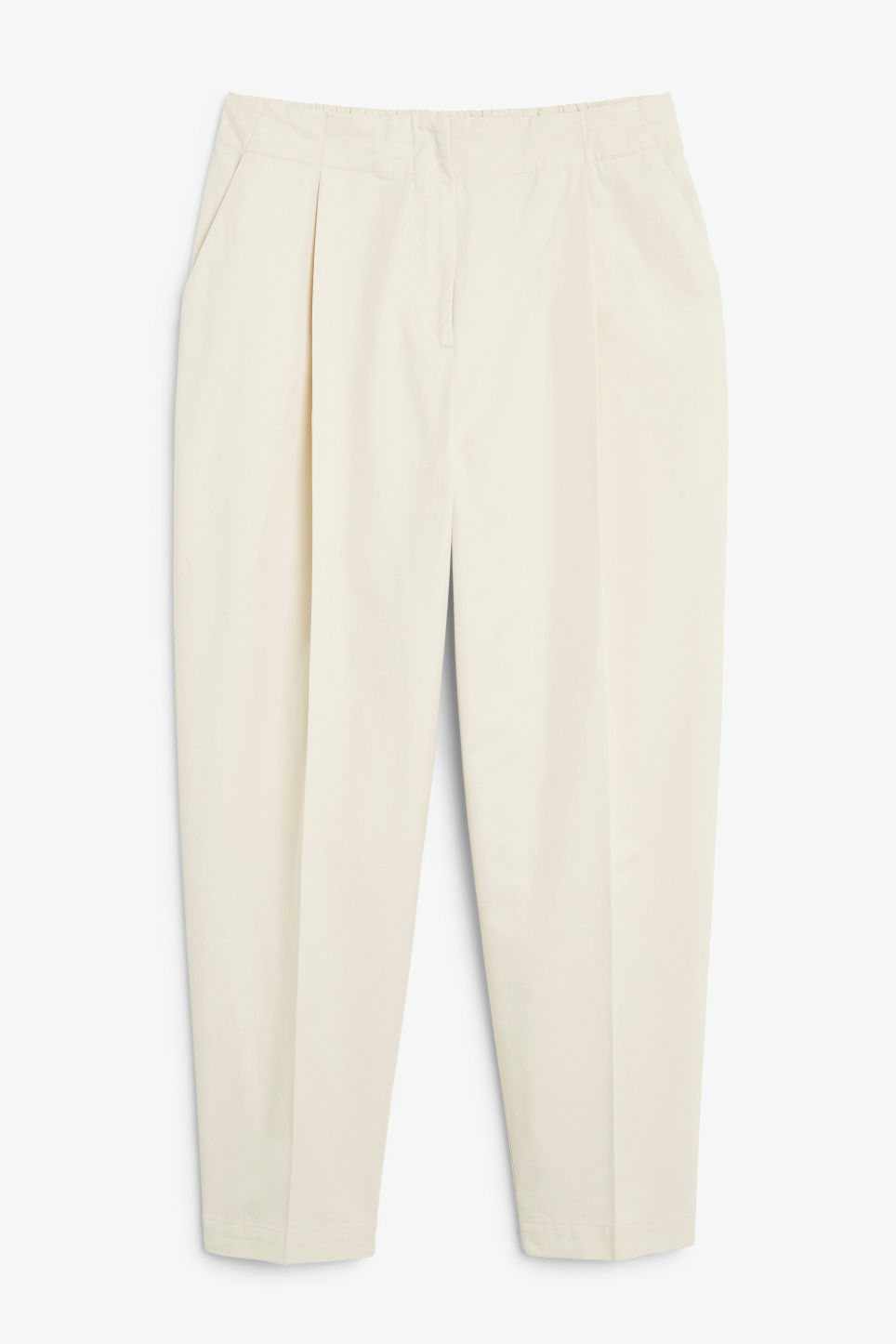 Front image of Monki dressy trousers in beige