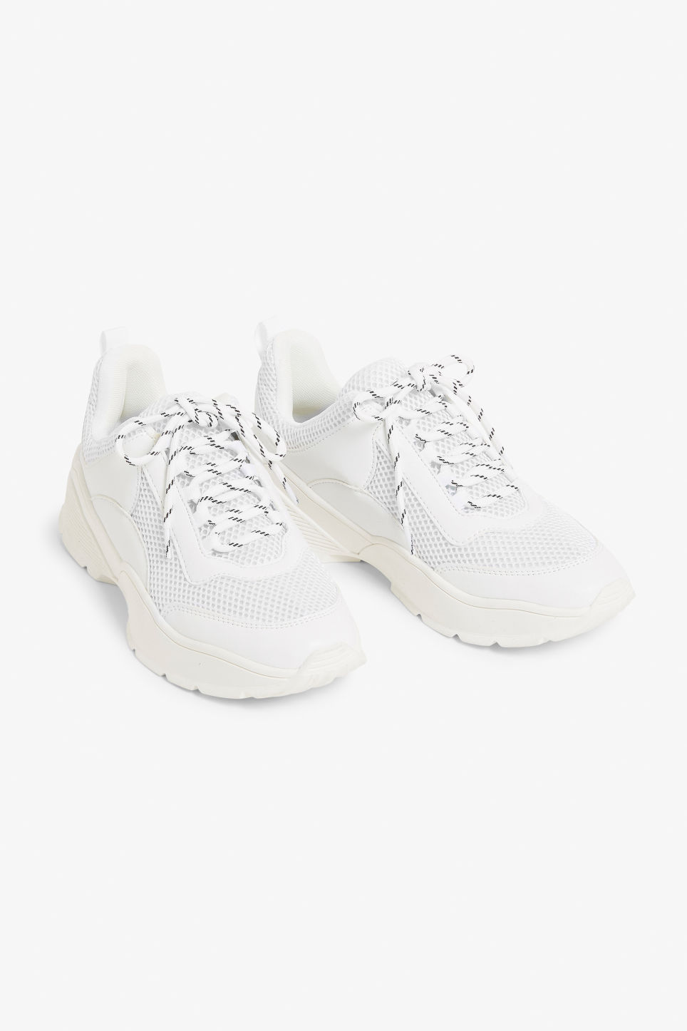 Front image of Monki low-top sneaker in white