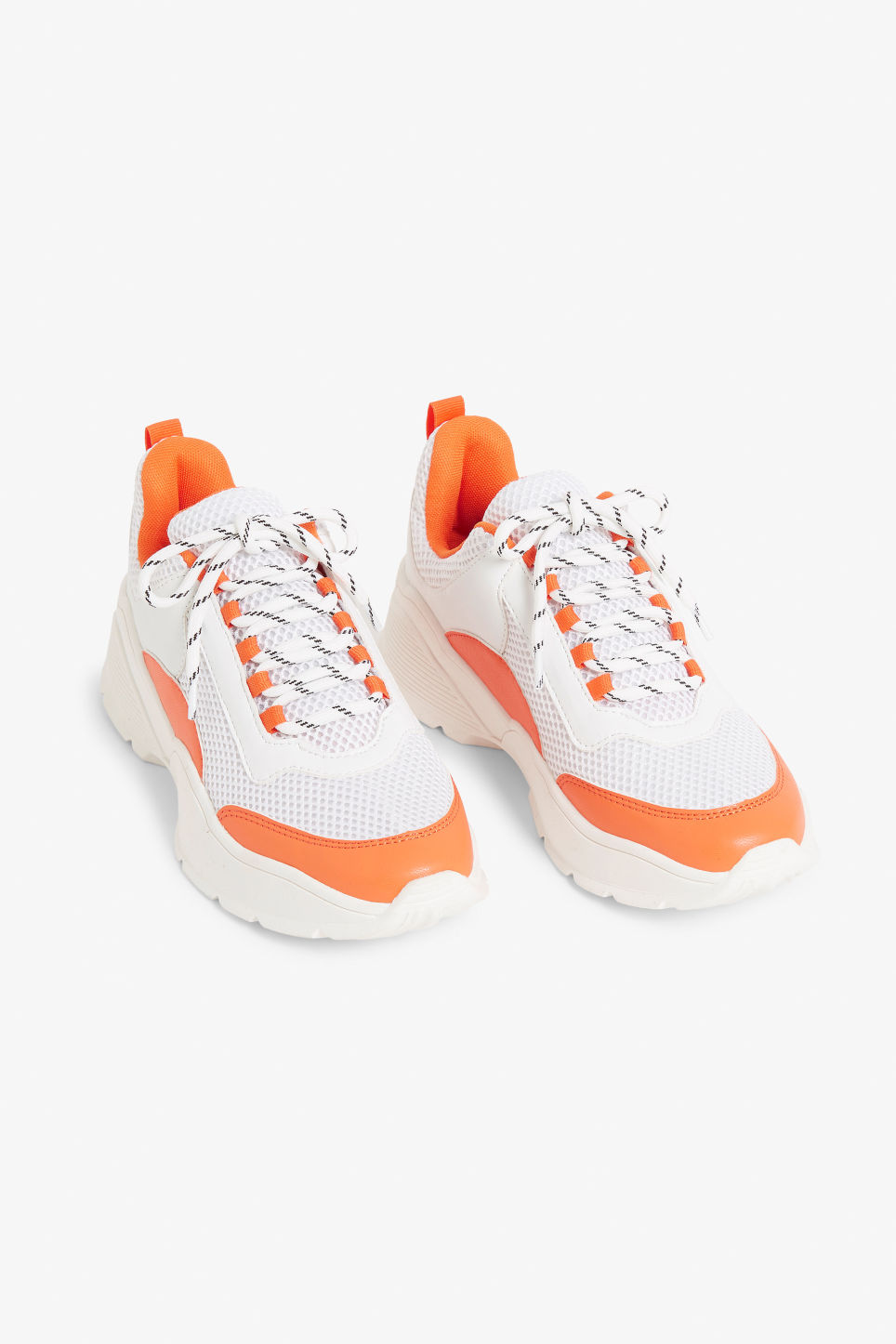 Front image of Monki low-top sneaker in orange