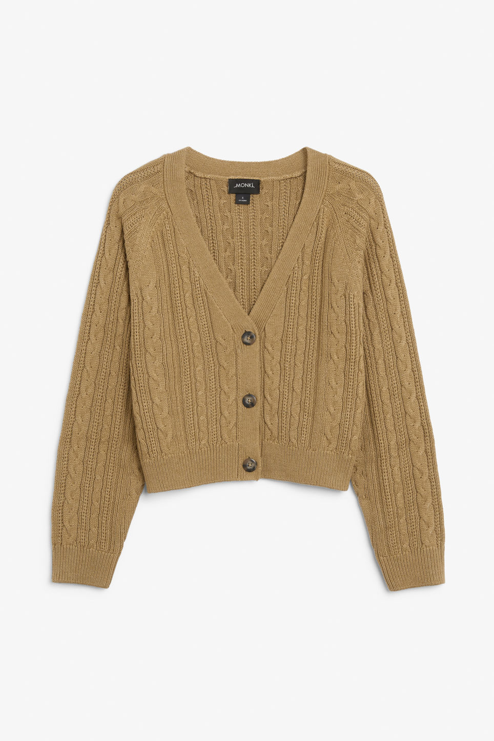 Front image of Monki knitted jumper in yellow