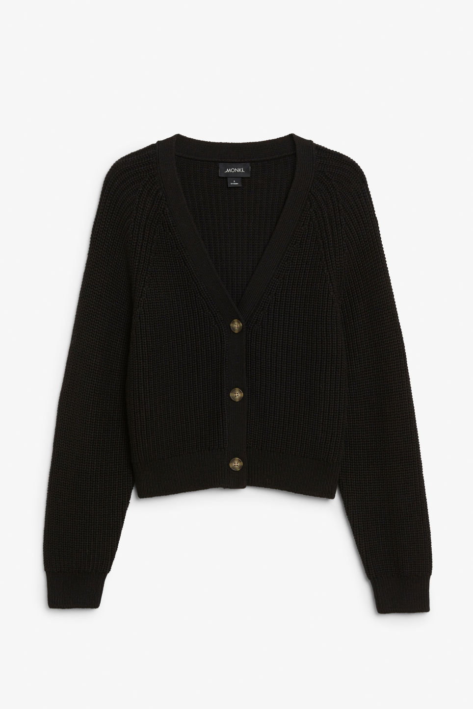 Front image of Monki knitted jumper in black