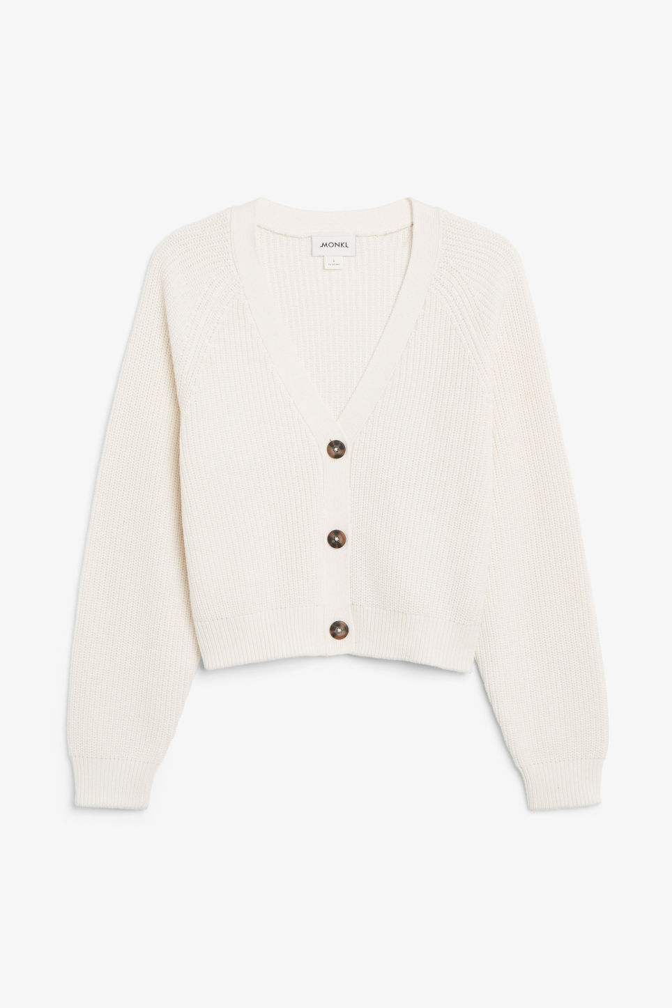 Front image of Monki knitted jumper in white