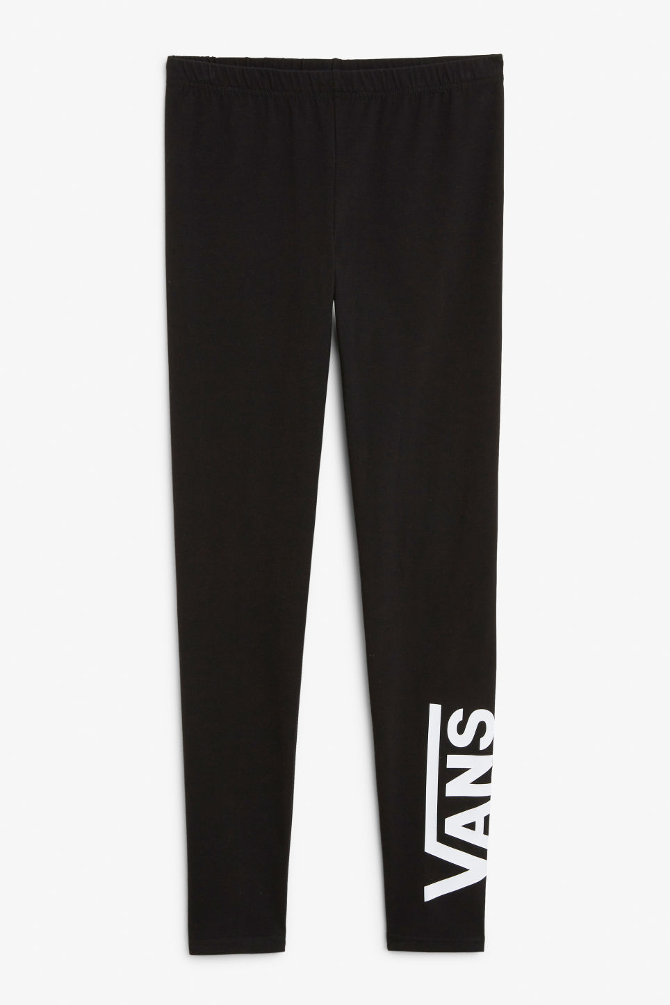Front image of Monki vans tights in black