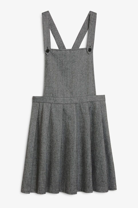 Pleated dungaree dress