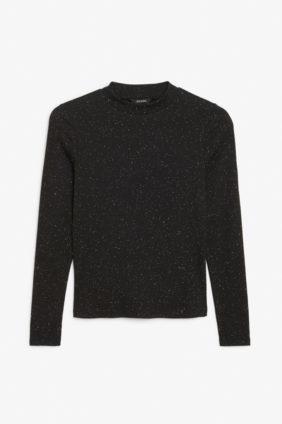 Front image of Monki classic turtleneck in black