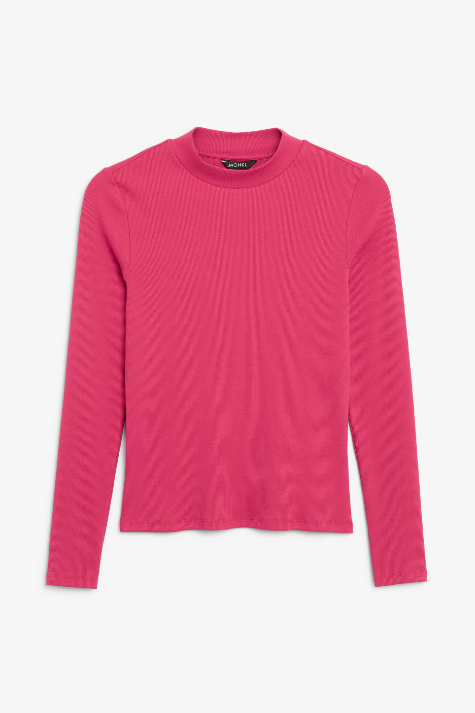 Front image of Monki classic turtleneck in pink