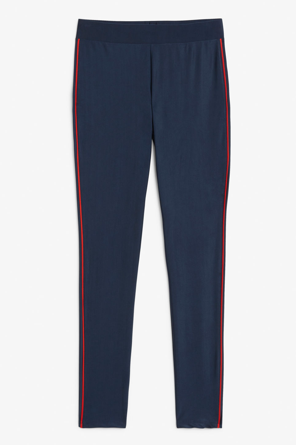 Front image of Monki sporty leggings in blue